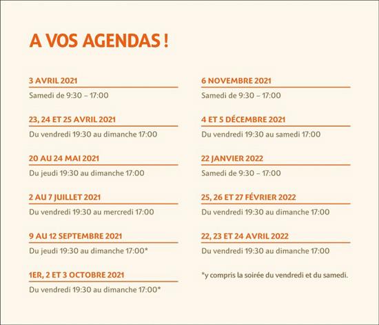 """Agenda du cycle """"Autour de l'arbre"""""""