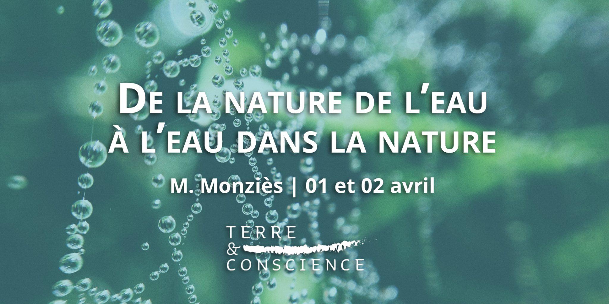 Conférence M. Monziès Terre et Conscience